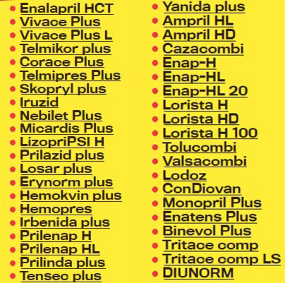 zabrane za hipertenziju