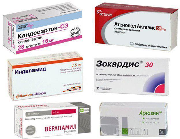 lijekove za popis hipertenzije kako brzo riješiti hipertenzije