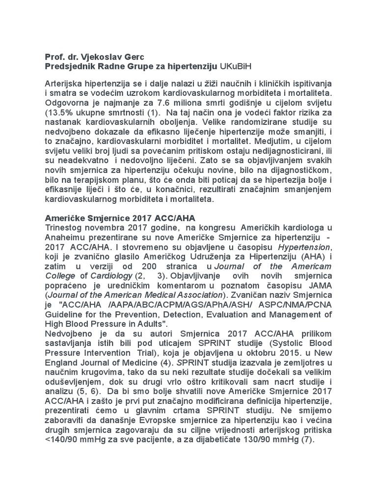 antagonisti kalcija od hipertenzije