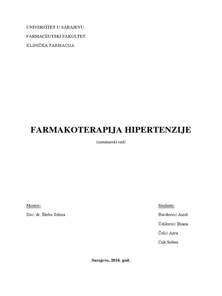 hipertenzije i vazodilatatori