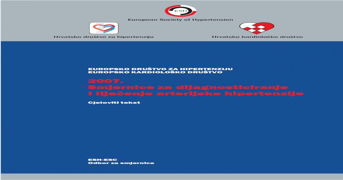 hipertenzija udžbenika treća skupina hipertenzije